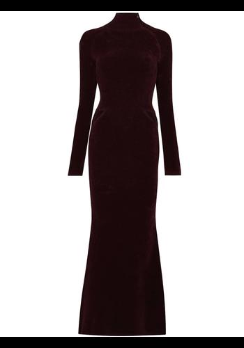 Y/PROJECT cut out long dress bordeaux