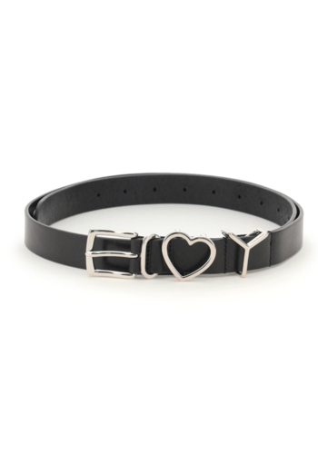 Y/PROJECT y heart belt black/silver