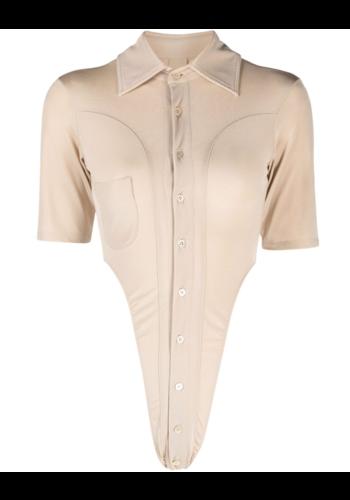 NINAMOUNAH bipeds body blouse short sleeve champagne