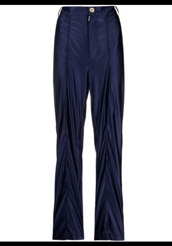 NINAMOUNAH jaw stretch trousers shiny blue