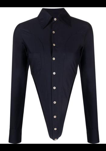 NINAMOUNAH bipedalism body blouse navy