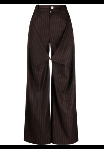 NINAMOUNAH plague trousers pinstripe brown