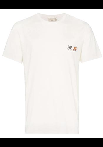 MAISON KITSUNE t-shirt double fox head latte