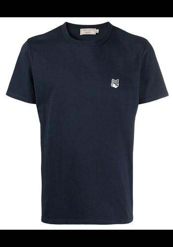 MAISON KITSUNE grey fox head patch classic t-shirt navy