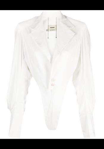 NINAMOUNAH bacteria tailored bodysuit white