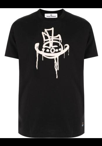 VIVIENNE WESTWOOD drip classic t-shirt black