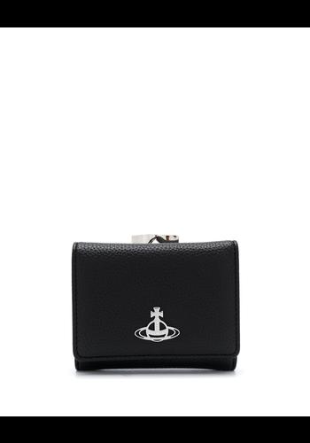 VIVIENNE WESTWOOD johanna small frame wallet black