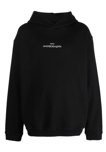 MAISON MARGIELA upside down logo hoodie black