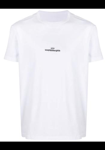 MAISON MARGIELA upside down logo t-shirt white
