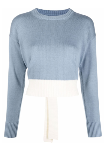 MM6 MAISON MARGIELA knitwear pull blue