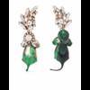 OTTOLINGER GREEN DIAMOND DIP EARRINGS