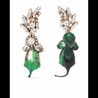GREEN DIAMOND DIP EARRINGS