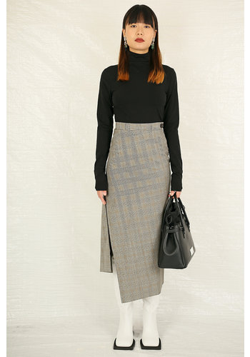 VIVIENNE WESTWOOD midi infinity skirt black white