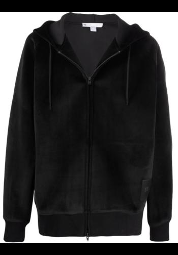 Y-3 velvet hoodie black