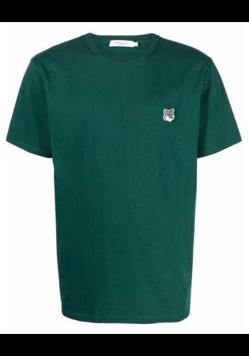 MAISON KITSUNE grey fox head patch classic t-shirt dark green