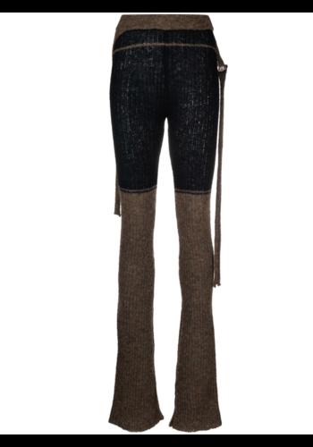 OTTOLINGER rib knit pants black earth