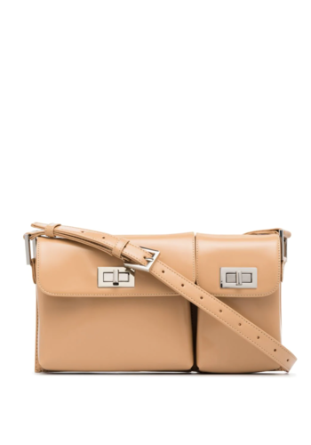 BY FAR billy bag cream semi patent leather