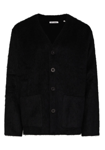OUR LEGACY cardigan black mohair