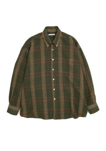 OUR LEGACY borrowed bd shirt green colombia check