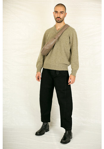 LEMAIRE seamless v-neck sweater meadow