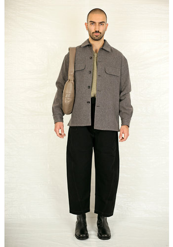 LEMAIRE boxy overshirt taupe grey
