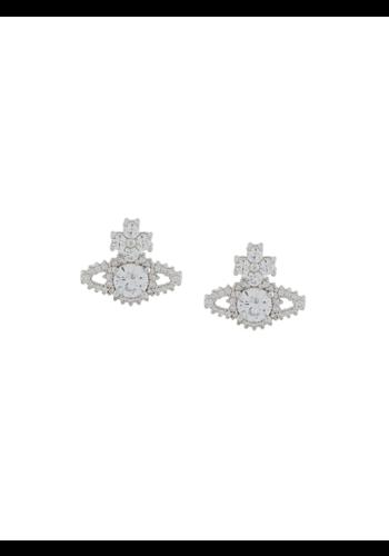 VIVIENNE WESTWOOD valentina orb earrings white