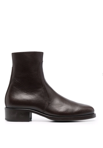 LEMAIRE classic boots dark brown