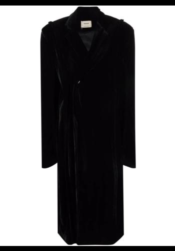 NINAMOUNAH deer fin coat dress black
