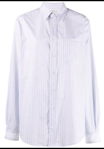 MAISON MARGIELA shirt blue stripes