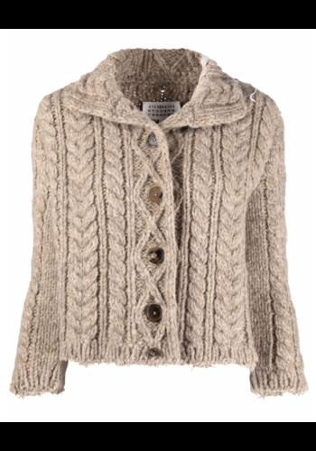 MAISON MARGIELA shrunken knitwear vest corteccia