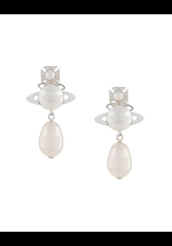 VIVIENNE WESTWOOD inass earrings cream rose