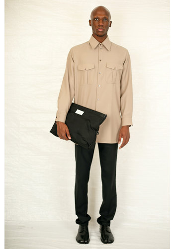LEMAIRE officer shirt cappuccino