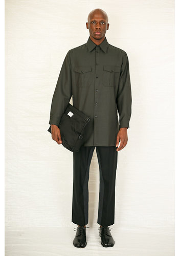 LEMAIRE officer shirt peat green