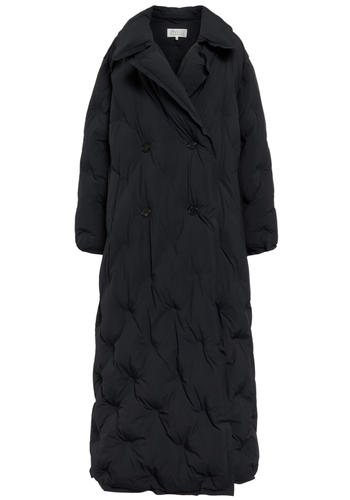 MAISON MARGIELA double-breasted quilted puffer coat navy