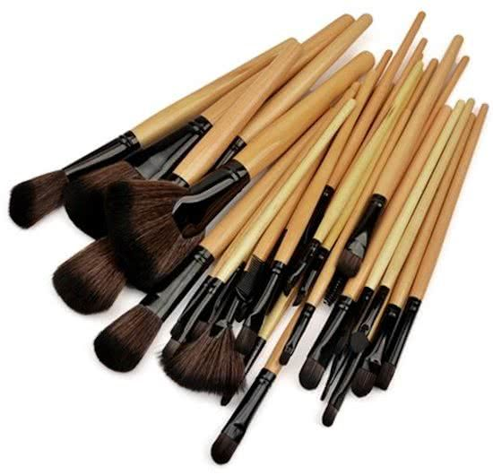 32 delige Wood Professional Makup brush Set  - Copy