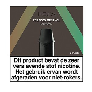 Hexa Hexa Pods Tobacco Menthol (2 stuks)