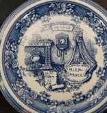 Maastricht Porselein Geboortebord Delfts Blauw. Volledig handgeschreven. Uniek cadeau