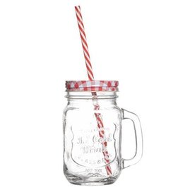 Cosy & Trendy Cosy & Trendy Drinking Jar met deksel 45cl 5158872