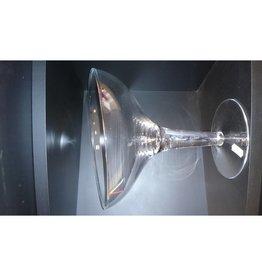 ijscoupe schuin bolvorm hoogte 17cm doorsnede 13,5cm