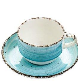 Güral Porselen Kop en schotel blauw Gural Ent 170ml 617348