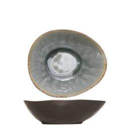 Cosy & Trendy Bord diep - schaal ovaal 20cm Cosy & Trendy Laguna Blue-Grey 5556319