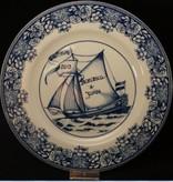 Maastricht Porselein Huwelijksbord. Volledig handgeschreven.