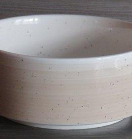 Schaal opstaande rand Spring beige/blauw 16cm 619916