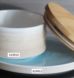 Schaal opstaande rand Spring beige/blauw 12cm 619914