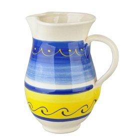 Karaf aardewerk 1L blauw-geel 526081