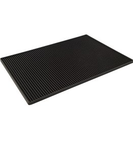 Bar Professional Barmat 45x30 cm zwart rubber Bar Professional 517961