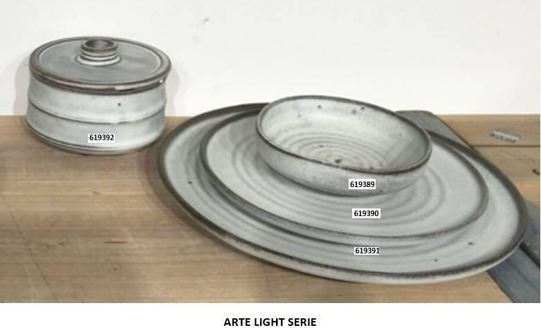 Bord 27cm Retro light Stoneware 619391
