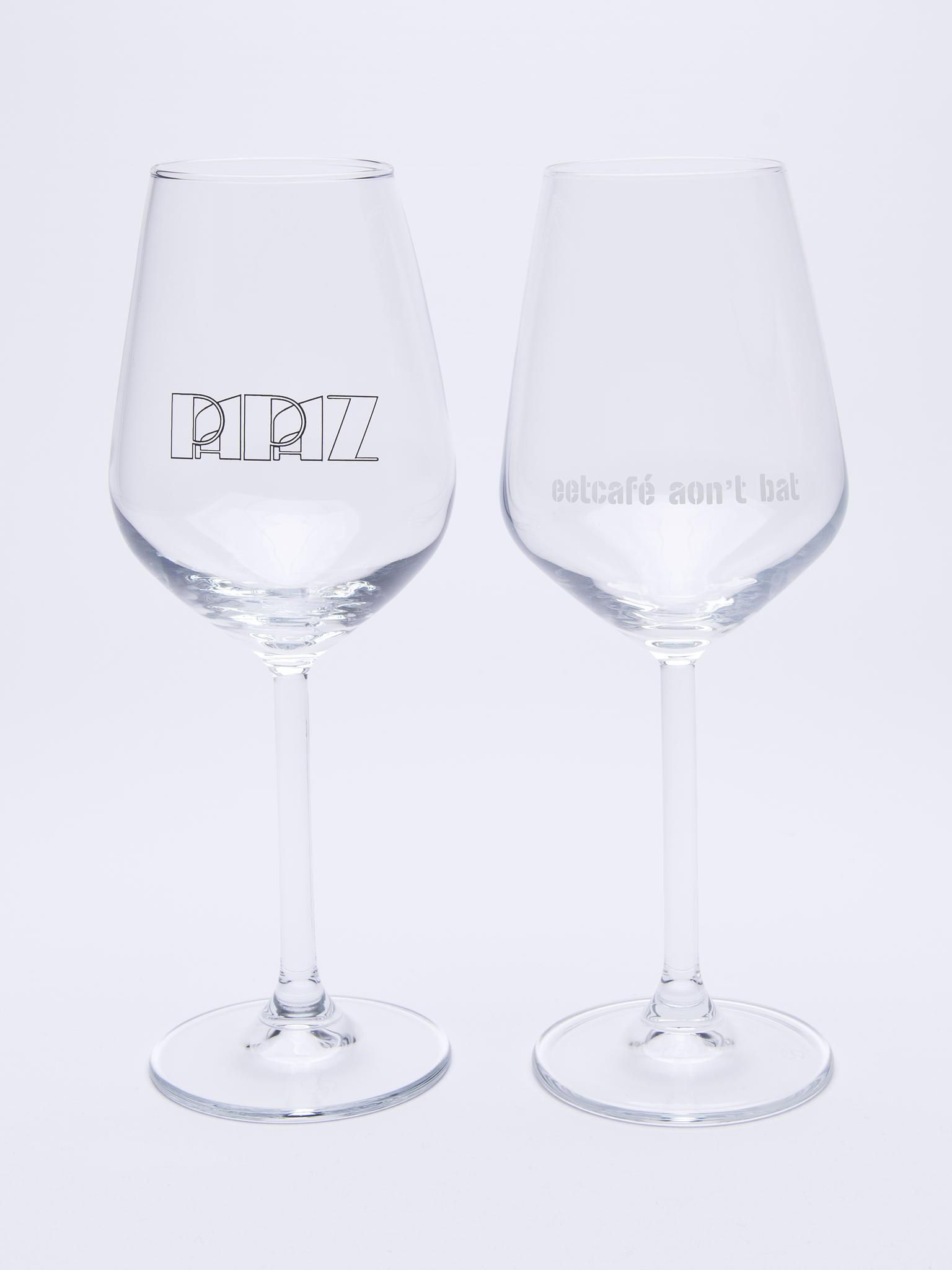 Uitgelezene Glas met logo - Maastricht Porselein Winkel JX-77