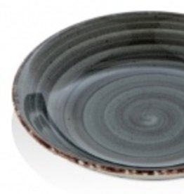 Güral Porselen Bord diep 20cm Zwart Gural Ent 618686