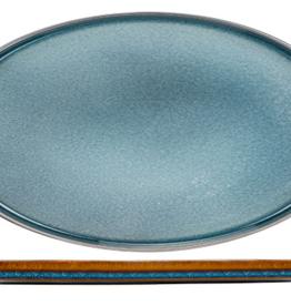 Cosy & Trendy Cosy & Trendy Quintana blue plat bord 30,5X19CM Ovaal - 2936031